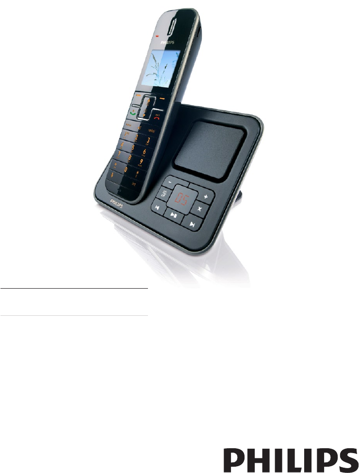 Philips Cordless Telephone SE765 User Guide ...
