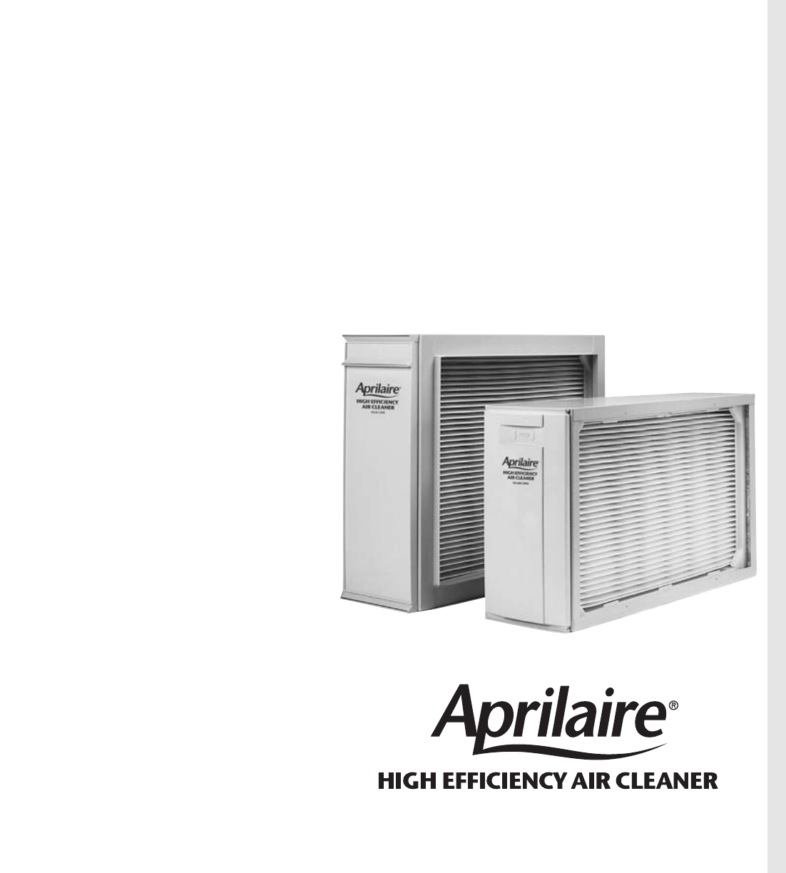 aprilaire air cleaner 2250 user guide manualsonline com rh homeappliance manualsonline com