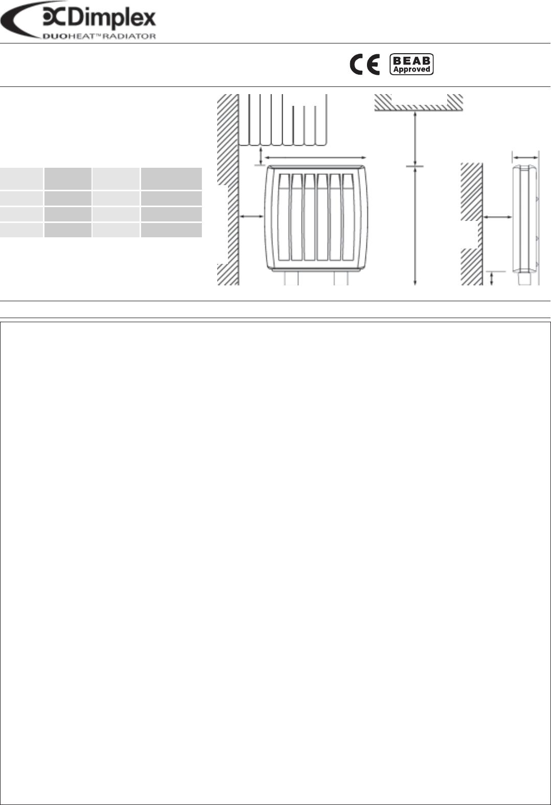 dimplex electric heater duo400i duo500i user guide
