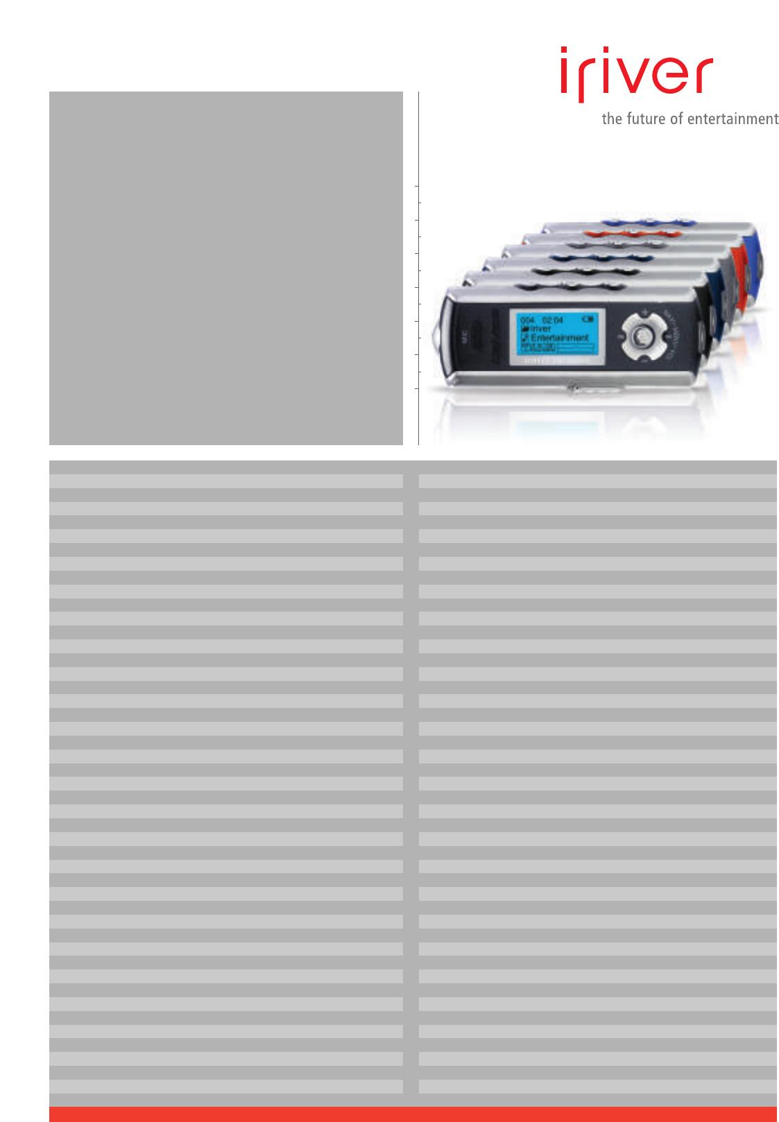 page 2 of iriver mp3 player ifp 799 user guide manualsonline com rh portablemedia manualsonline com Iriver Ifp 895 Iriver Ifp 790