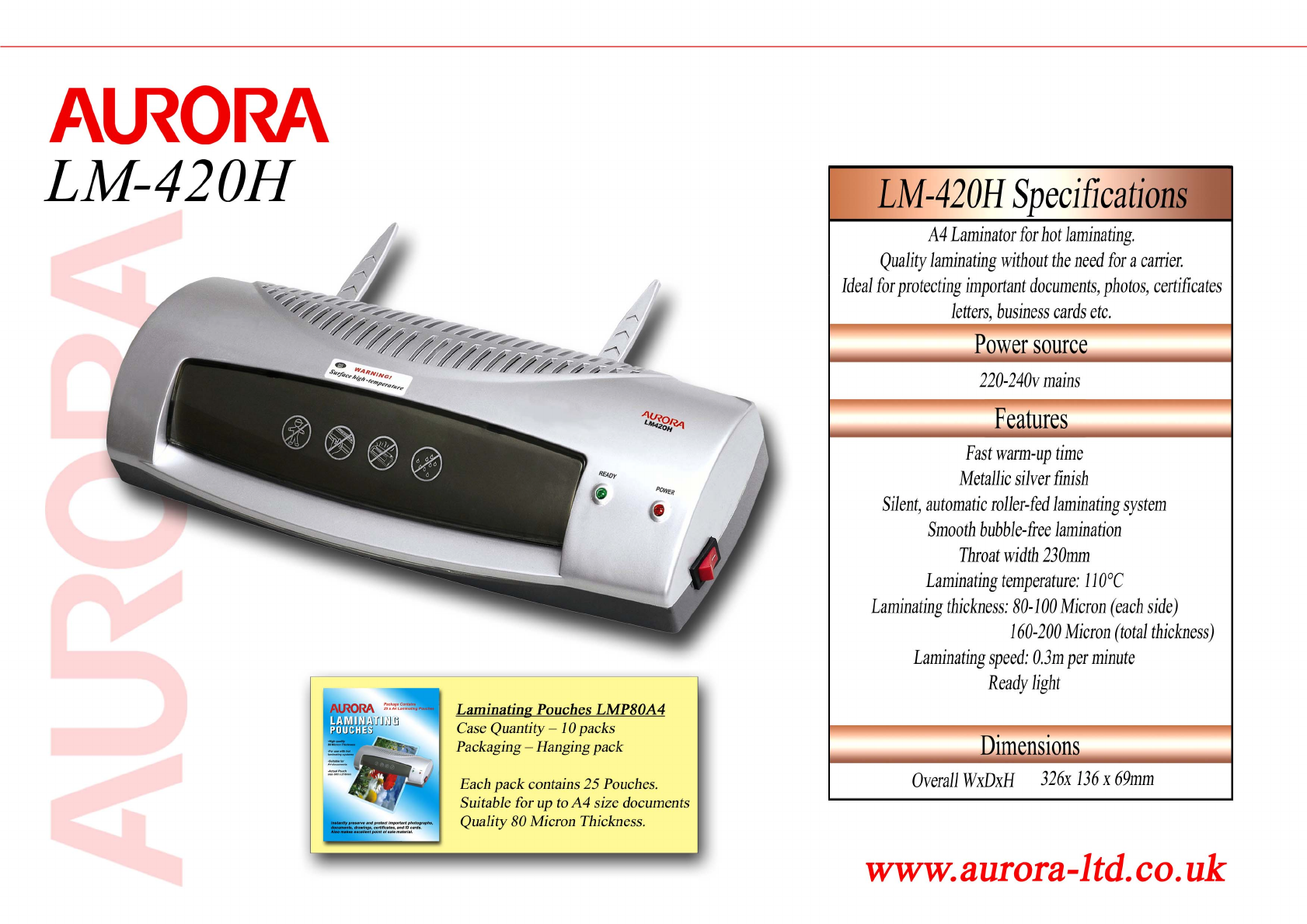 Aurora electronics laminator lm420h user guide manualsonline aurora electronics lm420h laminator user manual fandeluxe Gallery