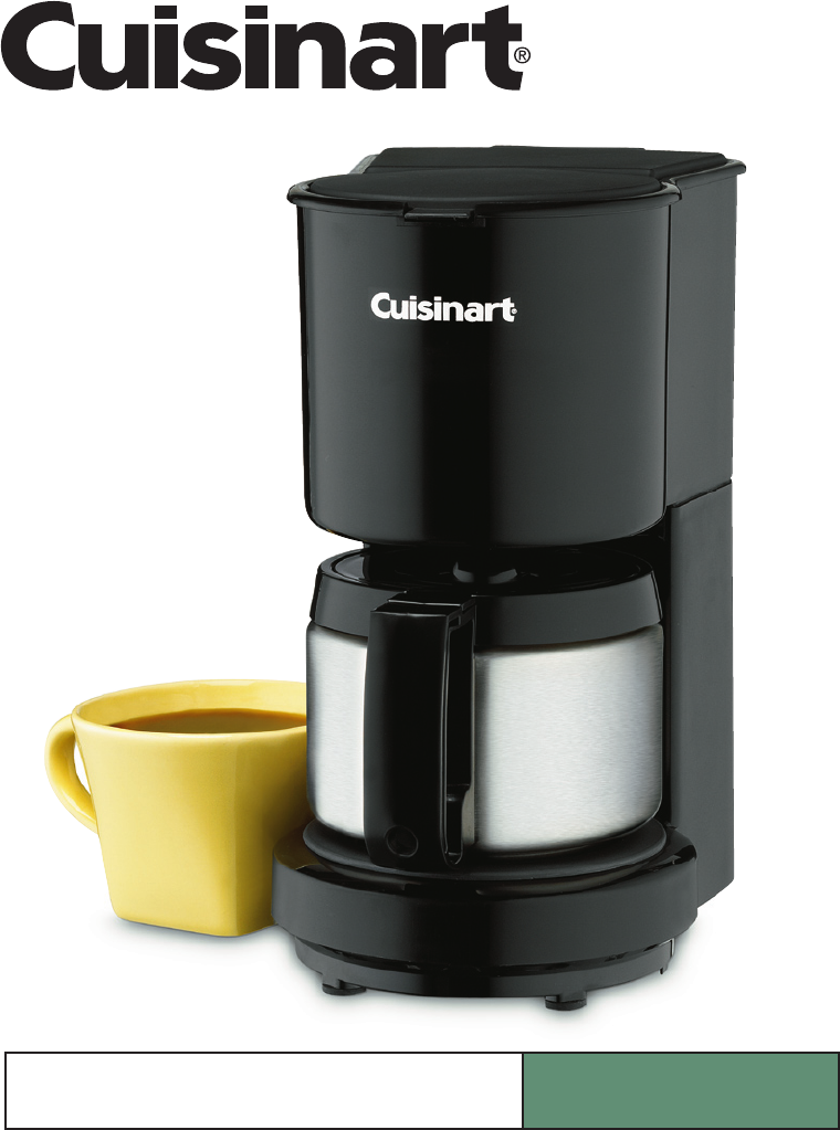 Cuisinart Coffee Maker Filter Instructions : Cuisinart Coffeemaker DCC-450 User Guide ManualsOnline.com