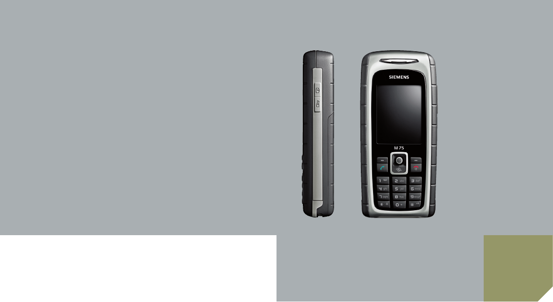 siemens cell phone m75 user guide manualsonline com rh cellphone manualsonline com Siemens User Manual Siemens User Manual