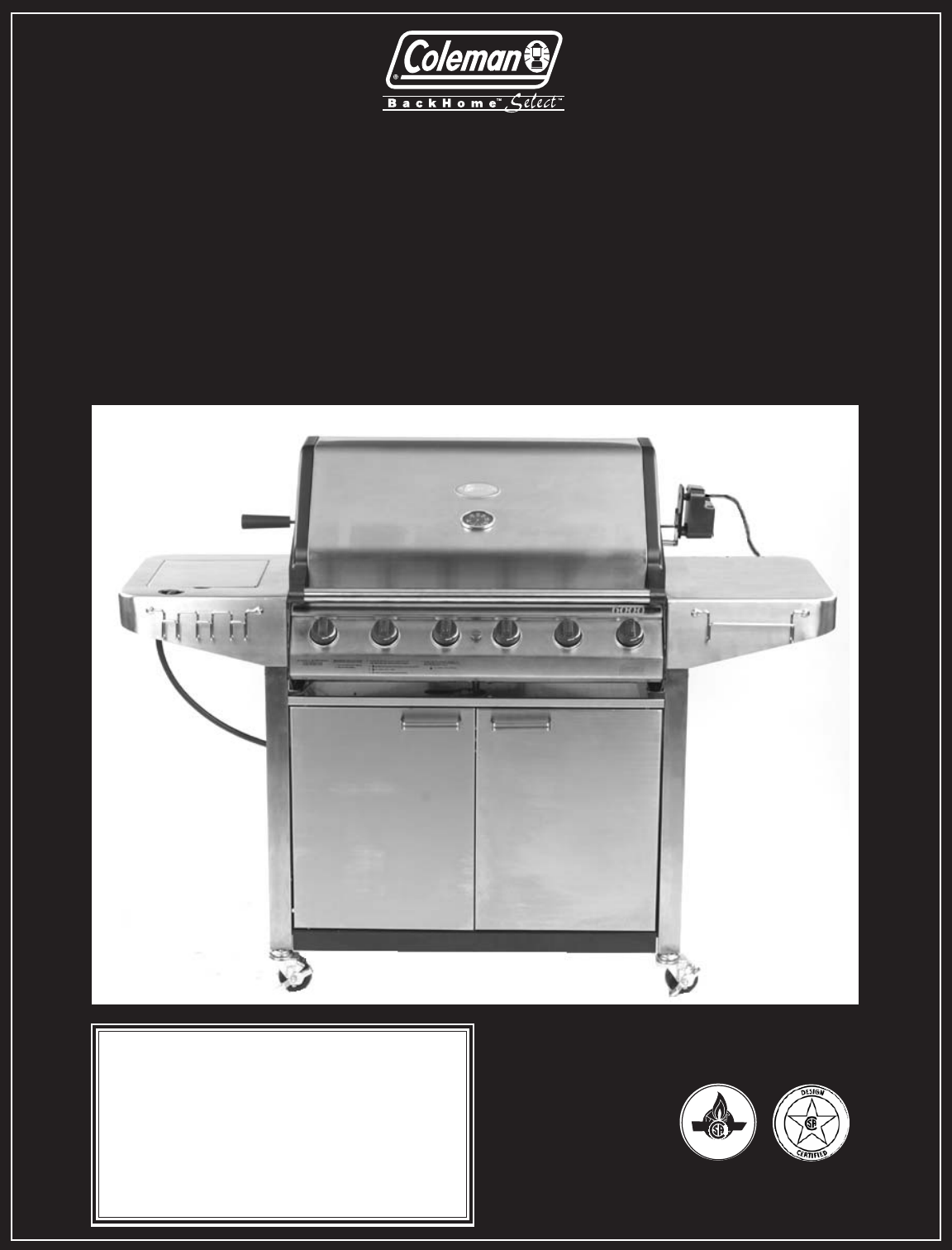 coleman gas grill 9947a726 user guide manualsonline com