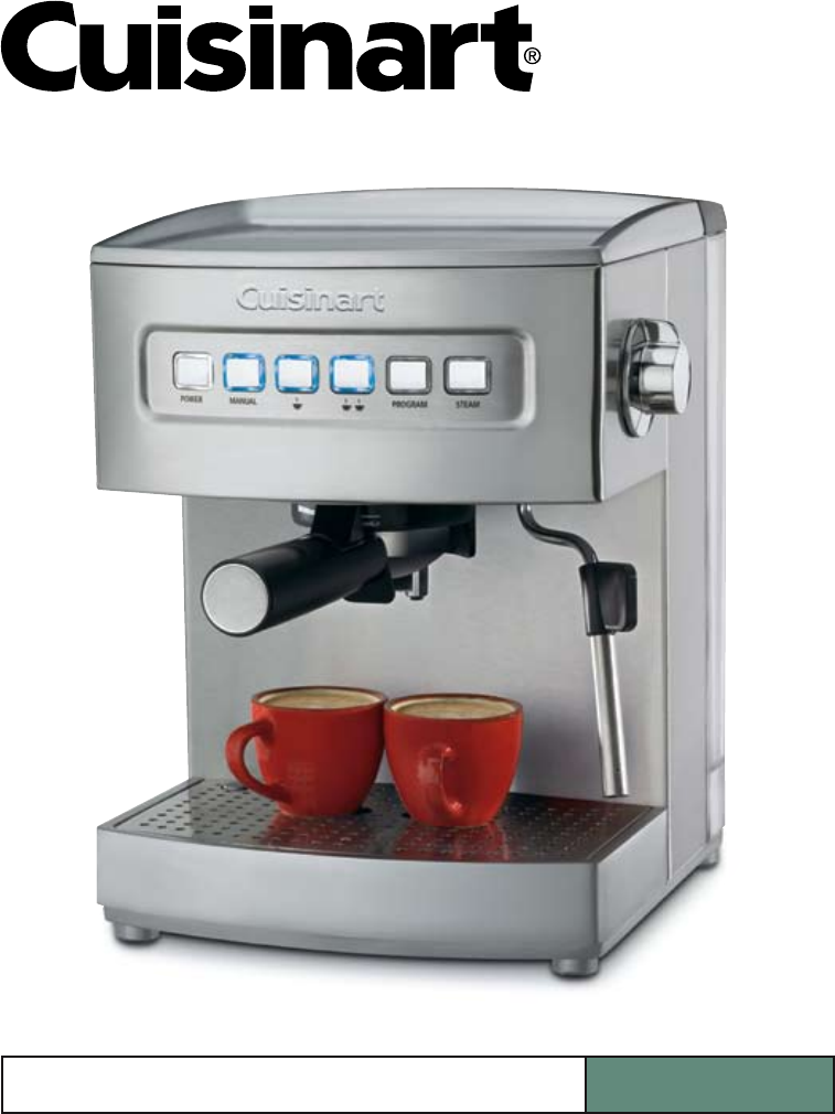 Coffee Maker Instructions : Cuisinart Espresso Maker EM-200 User Guide ManualsOnline.com