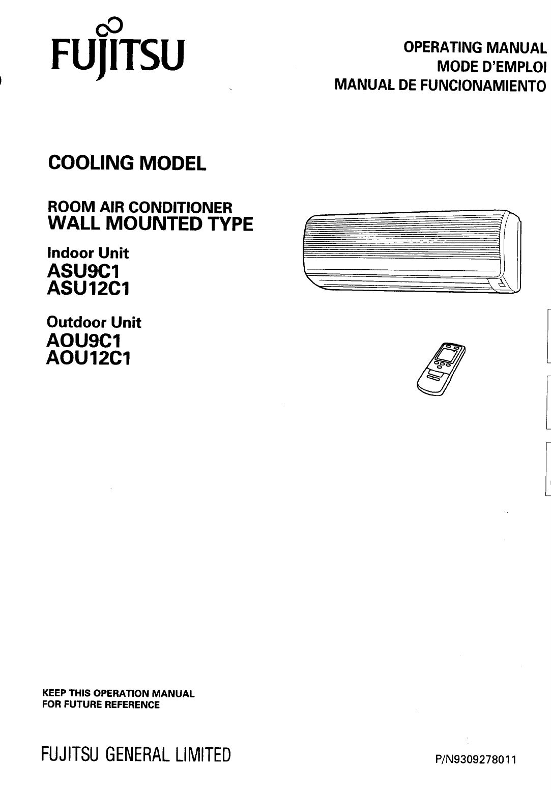 Fujitsu Air Conditioner Aou12c1 User Guide