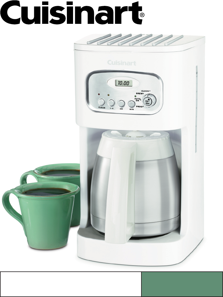 Cuisinart Coffee Maker Electrical Problems : Cuisinart Troubleshooting Guide