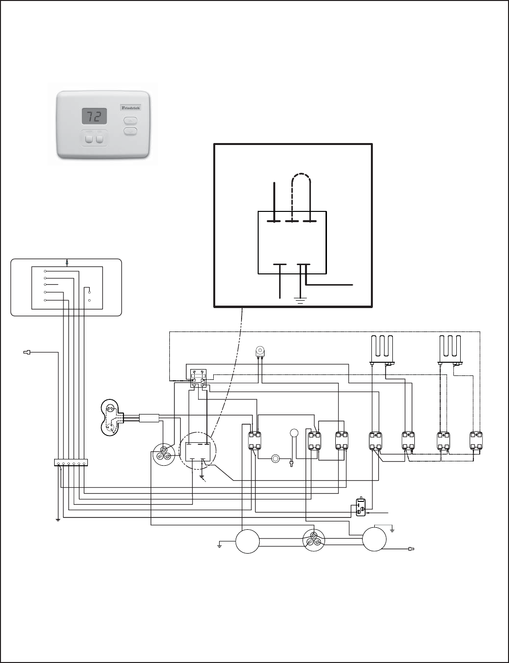 Page 11 Of Friedrich Air Conditioner Ve User Guide Manualsonlinecom Thermostat Wiring Diagram Typical Electrical Diagrams