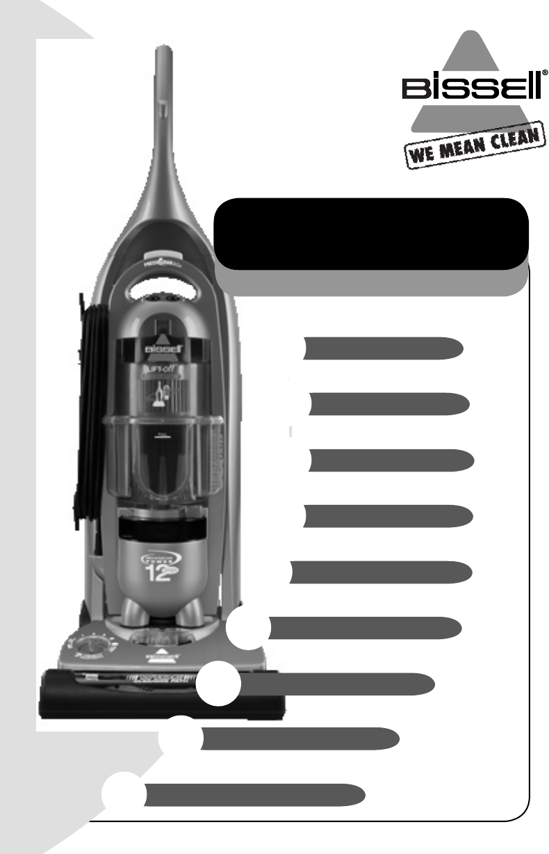 bissell vacuum cleaner 3760 user guide manualsonline com rh camera manualsonline com Bissell Bagless Upright bissell pet hair eraser vacuum owners manual