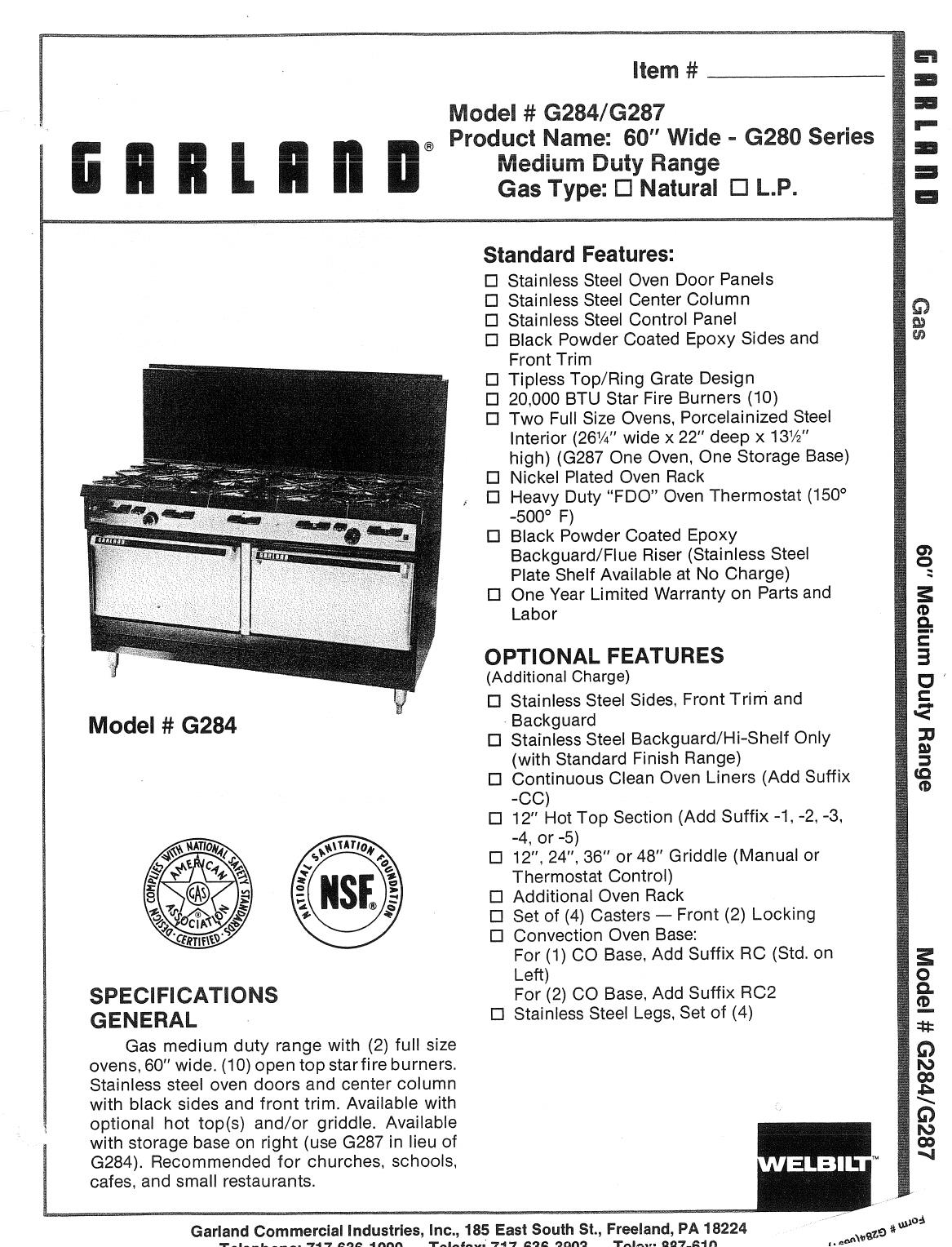 garland oven g284 user guide. Black Bedroom Furniture Sets. Home Design Ideas