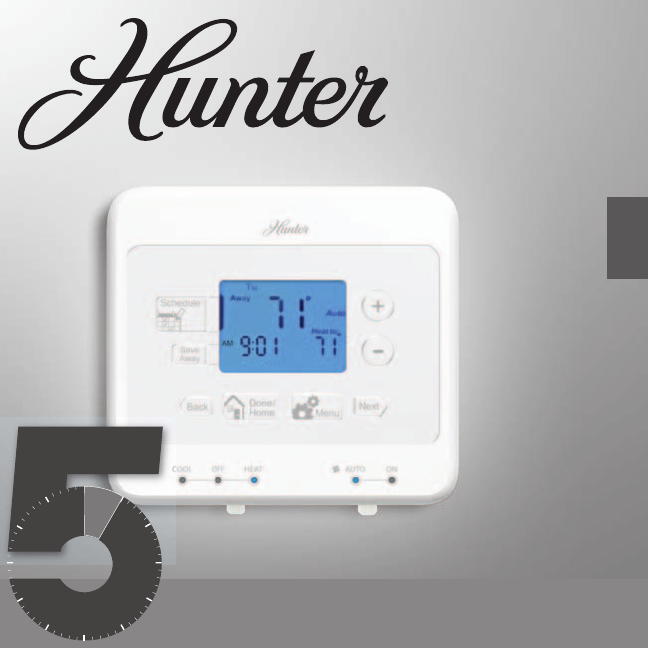 hunter fan thermostat 44134 user guide manualsonline com rh homeappliance manualsonline com Hunter Fan Thermostat Hunter Thermostat 44360 Manual