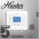 hunter fan thermostat user manuals manualsonline com hunter fan thermostat 44127 hunter fan hunter thermometer manual