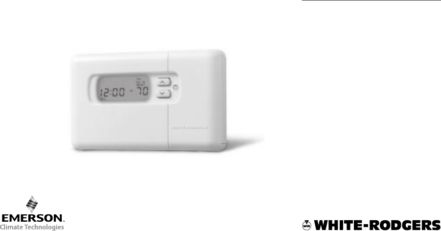 white rodgers 7 day programmable thermostat manual