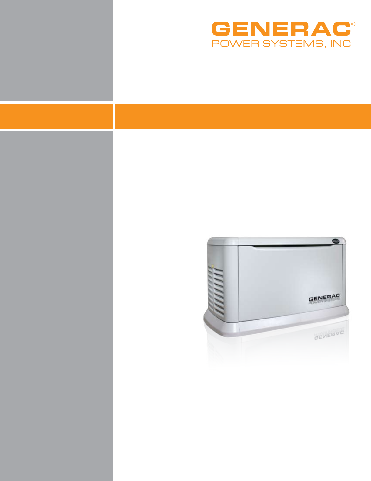 Generac Power Systems Portable Generator 17 kW LP User Guide