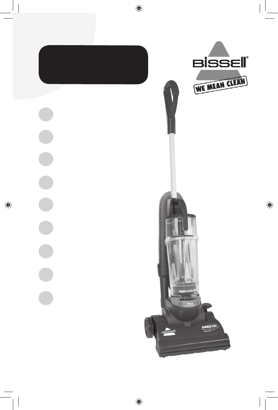bissell vacuum cleaner 3130 user guide manualsonline com rh tv manualsonline com Bissell Vacuum Bissell Easy Vac Bagless Upright Vacuum