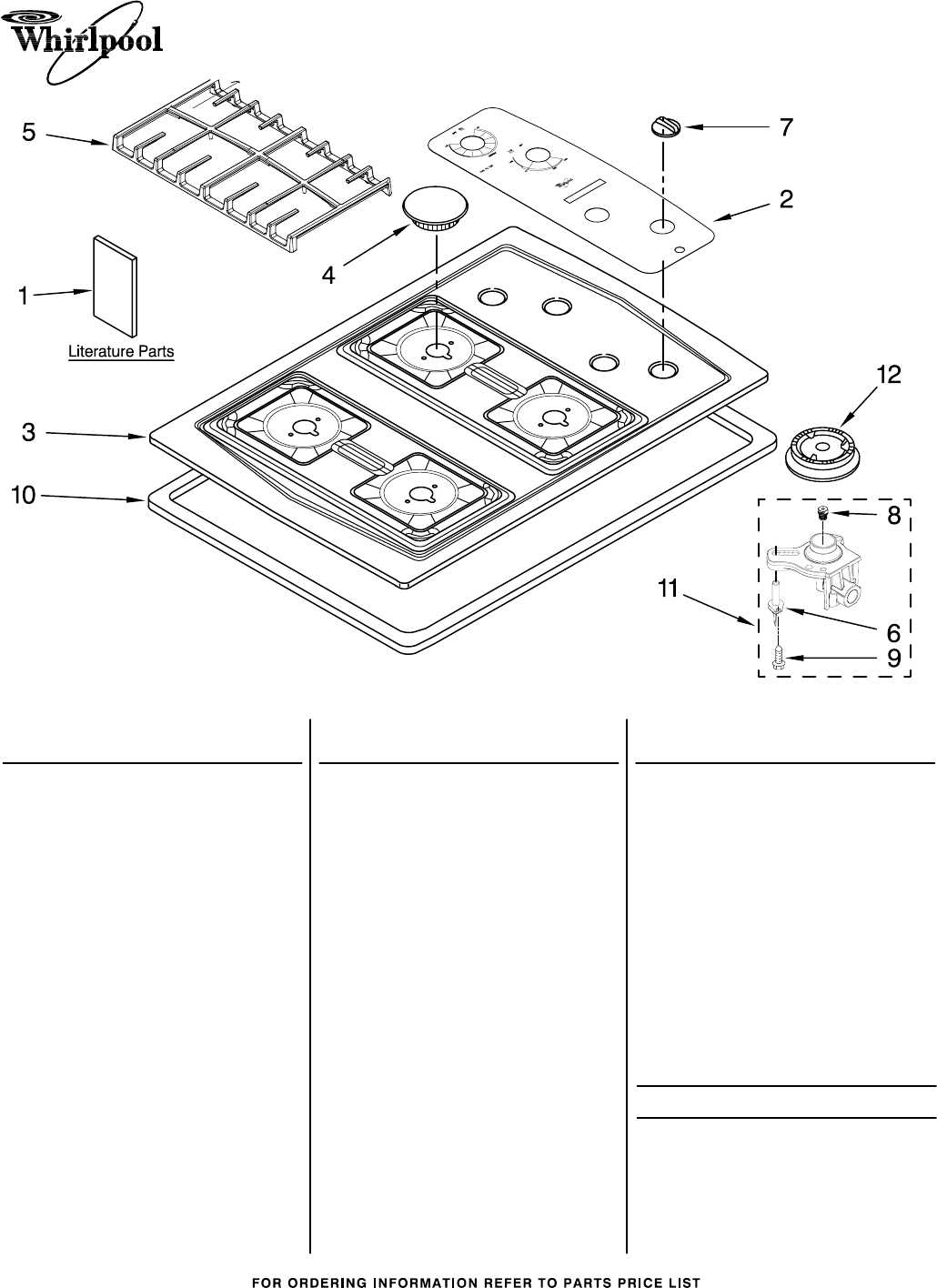 whirlpool cooktop scs3617rq03 user guide