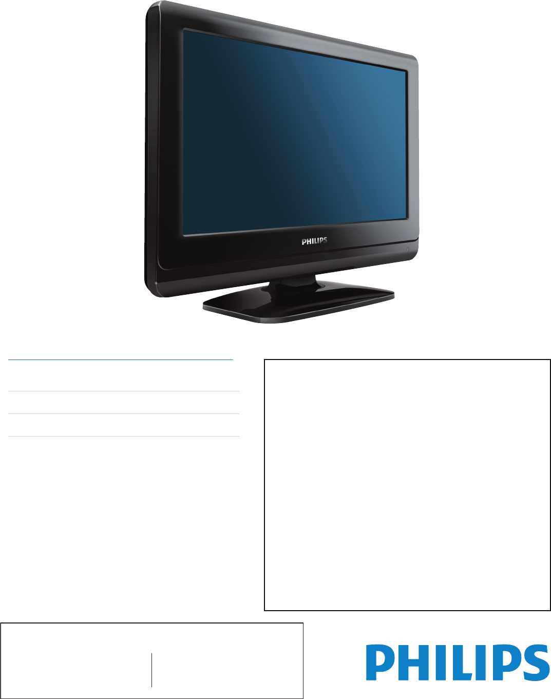 philips flat panel television 19pfl3504d user guide manual da tv philips philips 55 tv manual