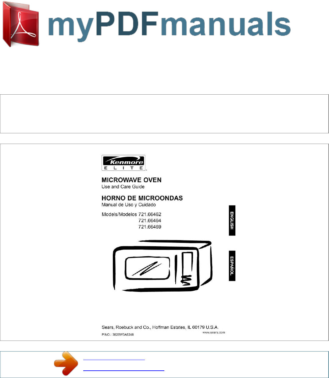 Kenmore 721 66464 Microwave Oven User Manual