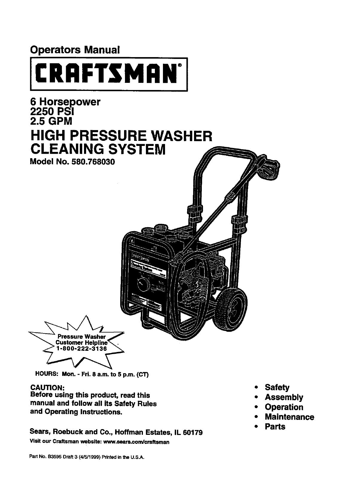 craftsman 6.0 eager 1 manual
