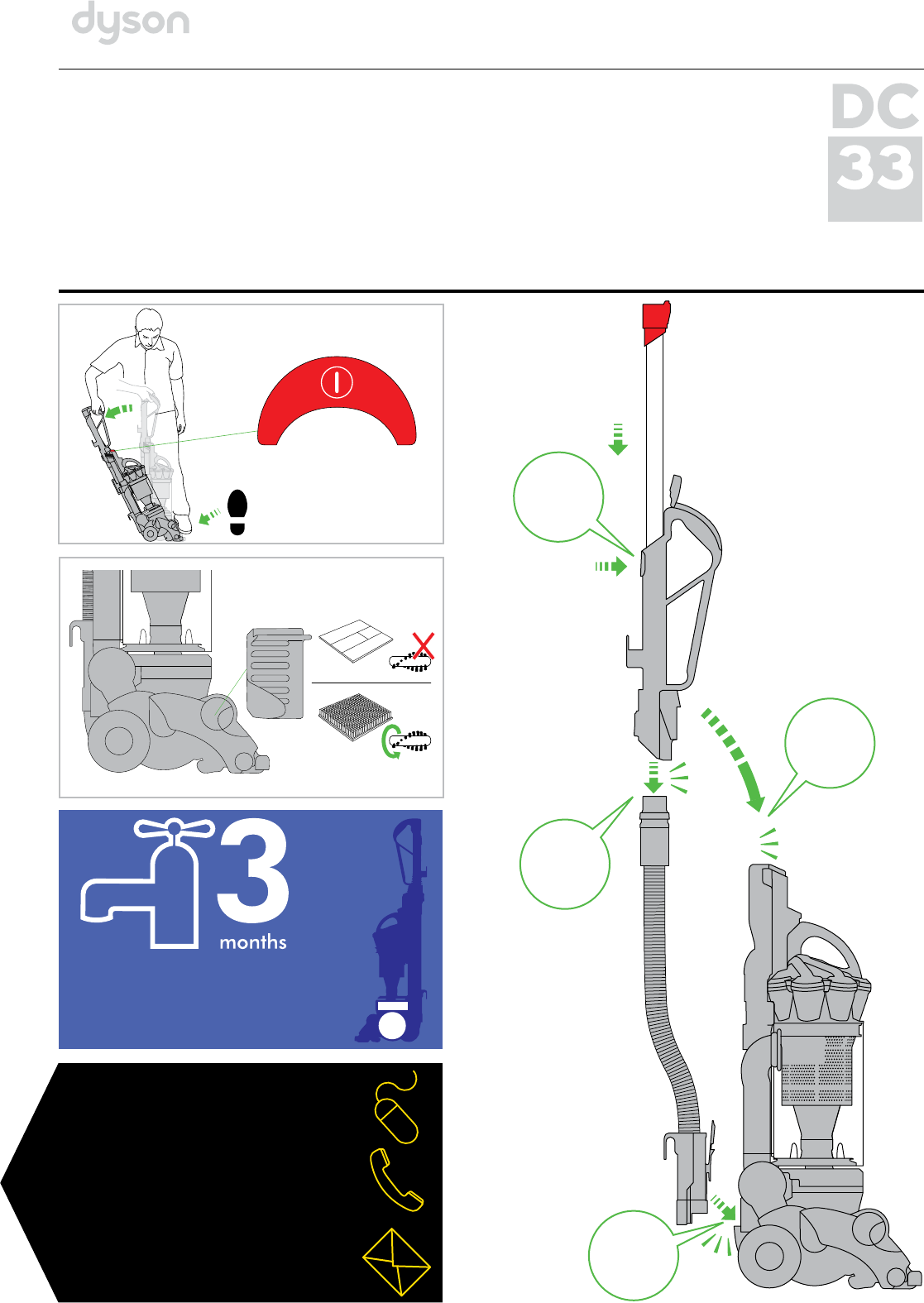 dyson vacuum cleaner dc33 user guide manualsonline com rh homeappliance manualsonline com Dyson DC33 Won't Turn On dyson dc33 user manual