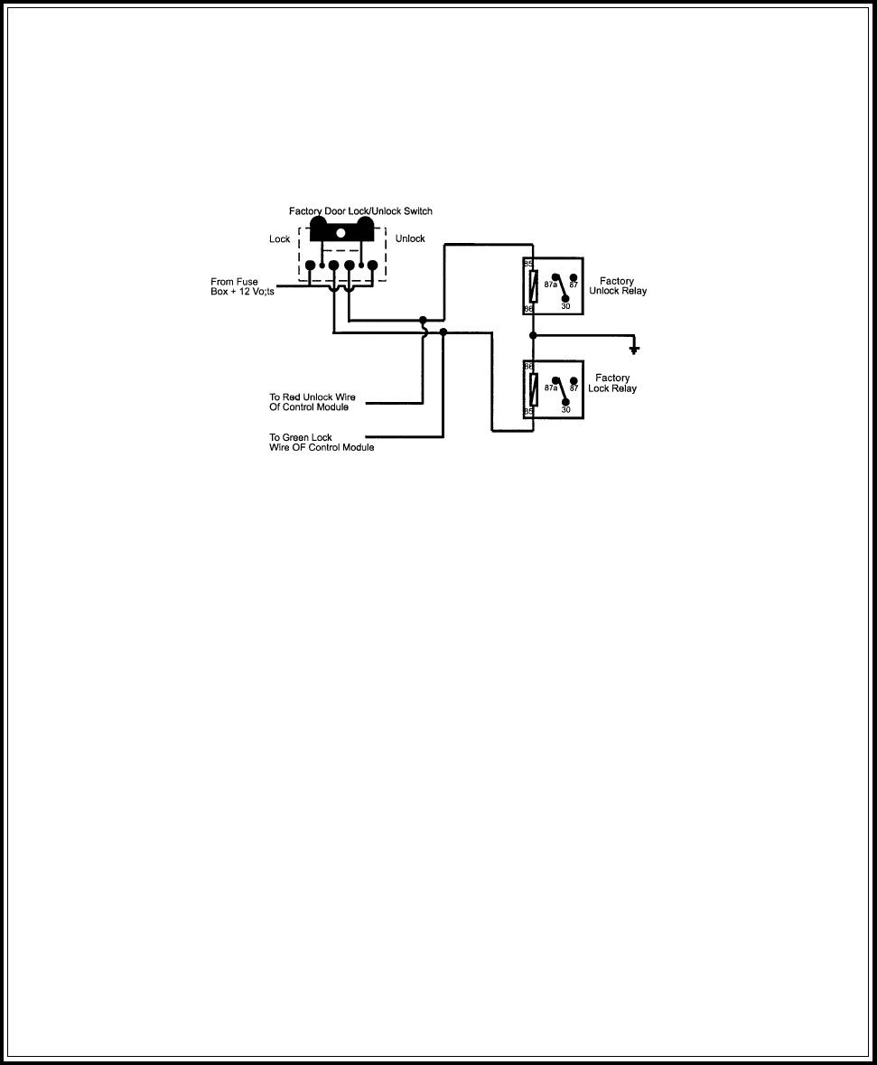 Page 9 Of Audiovox Remote Starter Pro 9175ft User Guide Wire Diagram 3 Positive Switched Door Locks