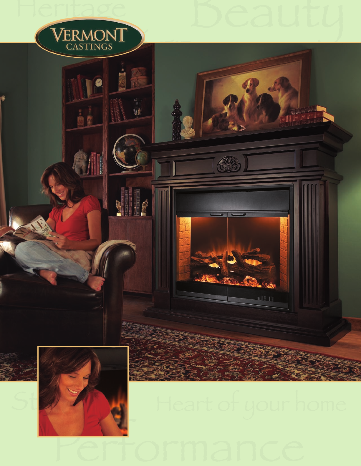 vermont electric fireplace home decorating interior design