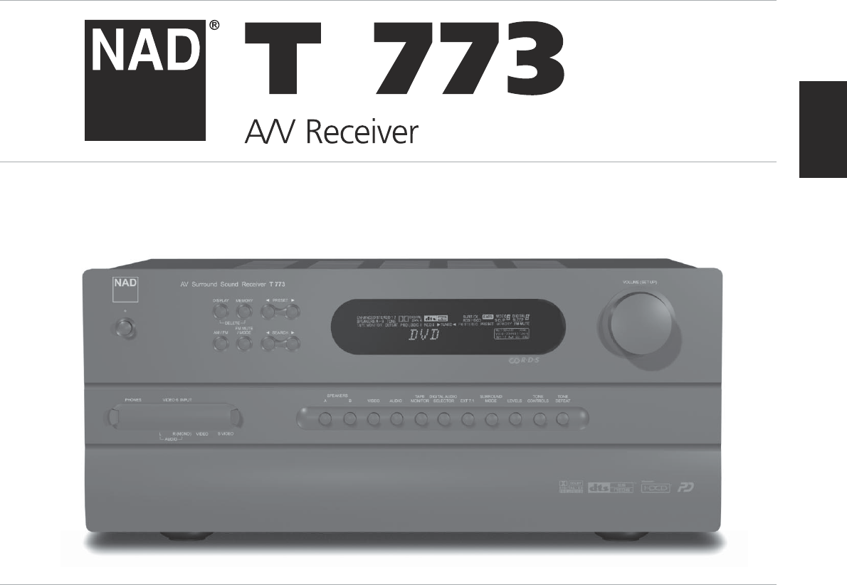 nad stereo receiver t 773 user guide manualsonline com rh audio manualsonline com nad t 773 service manual pdf