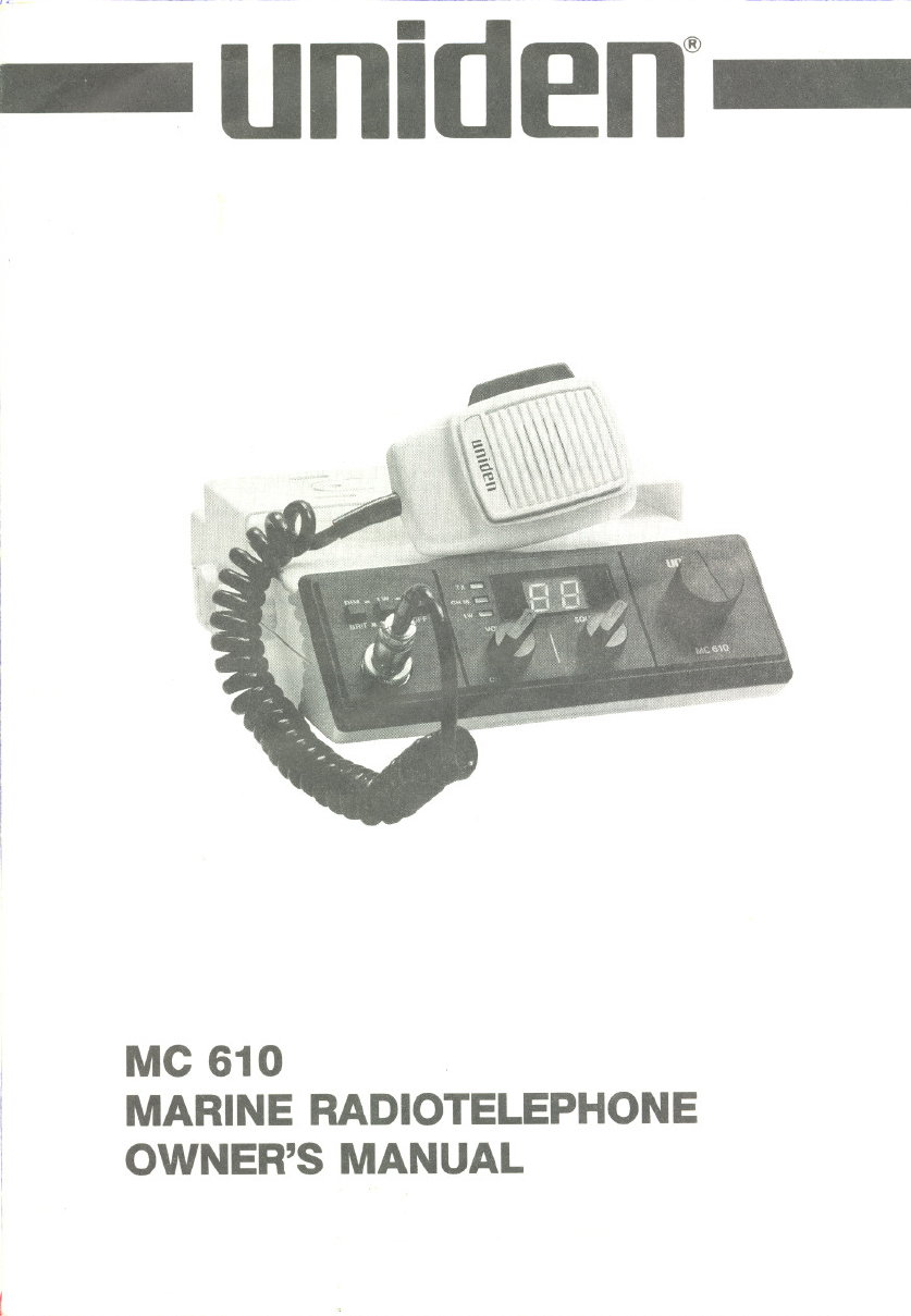 uniden marine radio mc 610 user guide manualsonline com rh marine manualsonline com uniden mc 610 marine radio manual uniden mc535 marine radio manual
