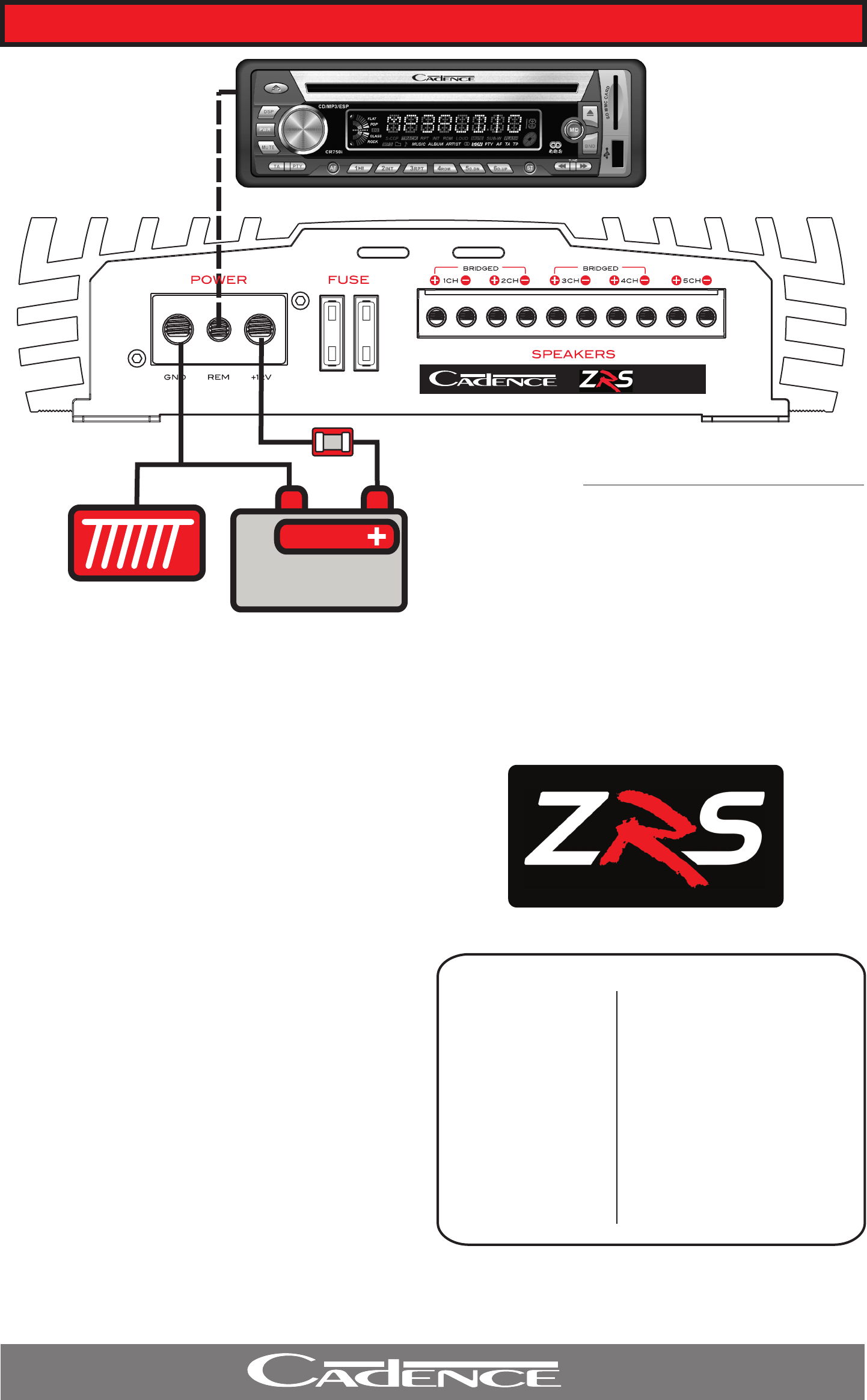 ZRS C8 QUICK INSTALLATION GUIDE
