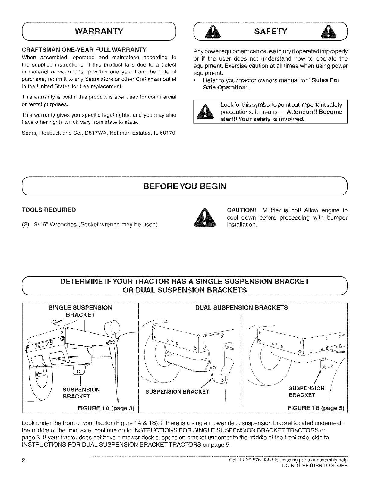 page 2 of craftsman lawn mower accessory 486 245994 user guide rh lawnandgarden manualsonline com Craftsman Snow Thrower Manual Craftsman Snow Blower Parts Manuals