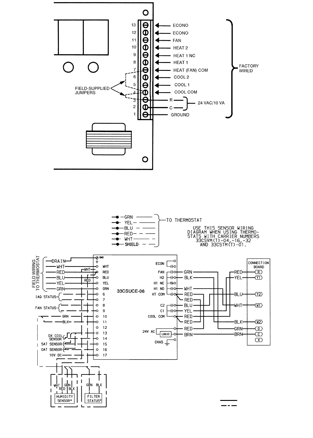 page 6 of carrier thermostat 48 50hj004 024 user guide
