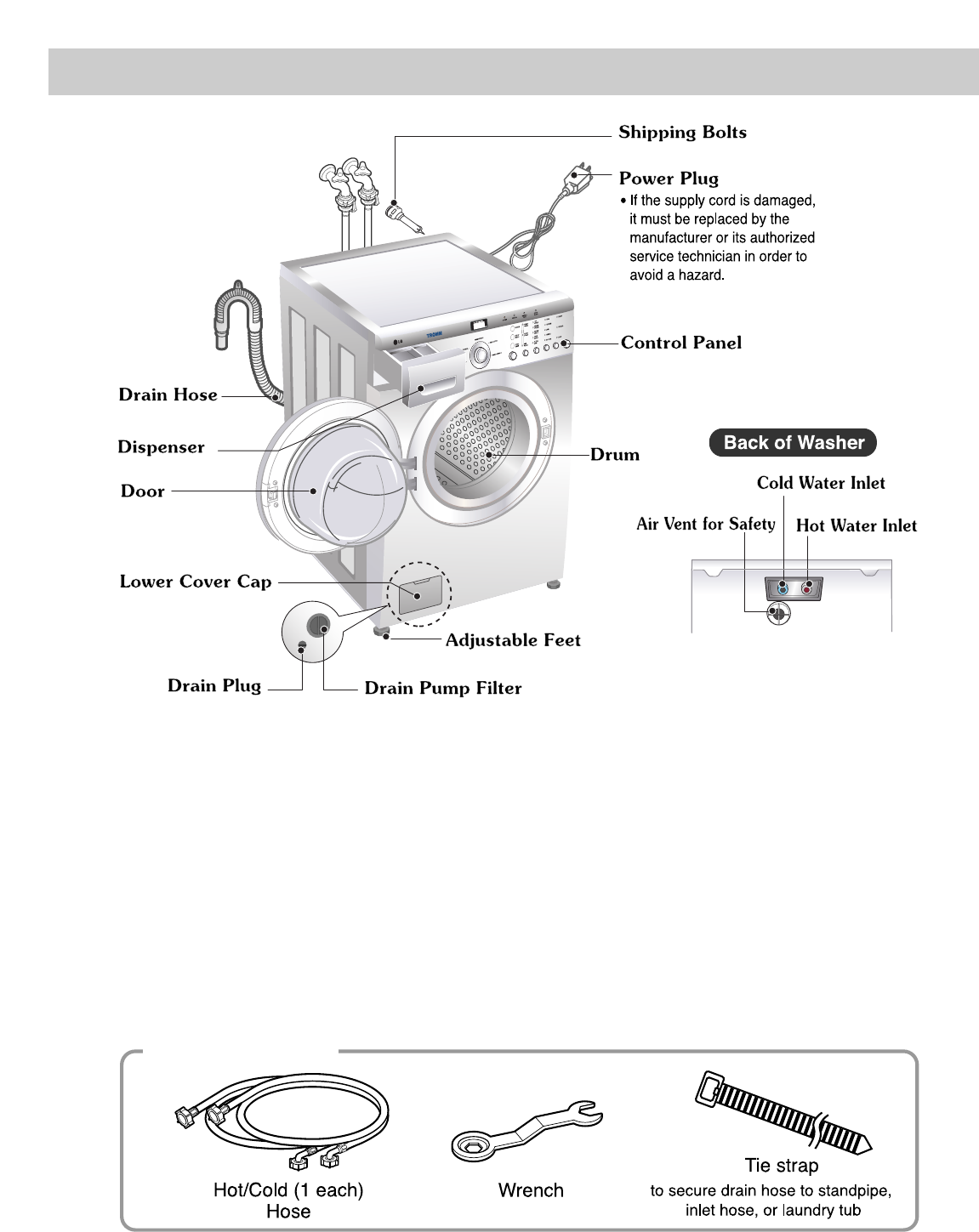 page 4 of lg electronics washer  dryer wm1812cw user guide manualsonline com LG WT5070CW LG WM2277HW