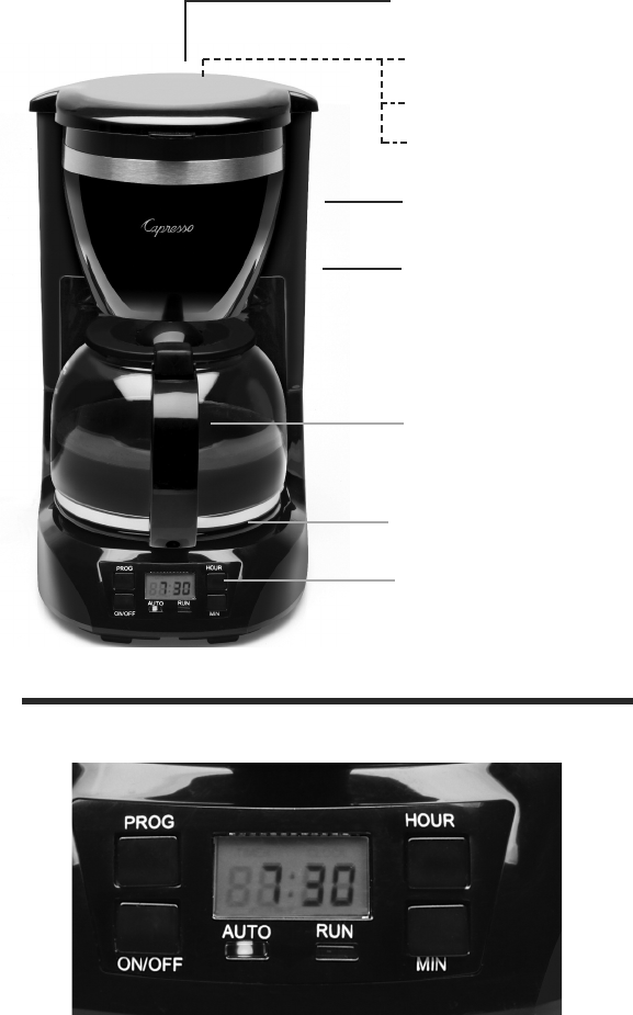 Capresso Coffee Maker Instructions : Page 4 of Capresso Coffeemaker 424 User Guide ManualsOnline.com