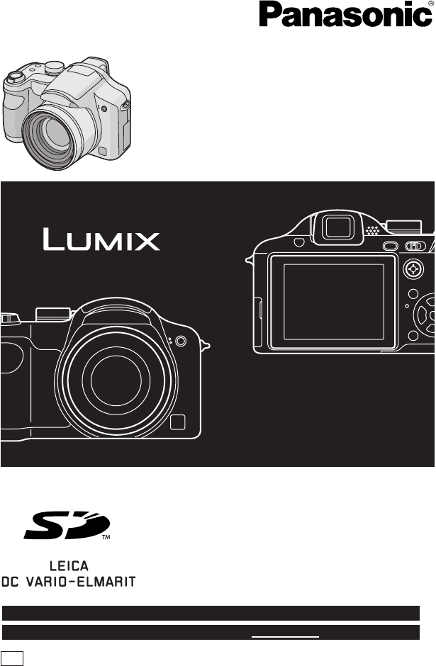 Panasonic Digital Camera Dmc Fz7 User Guide Manualsonline