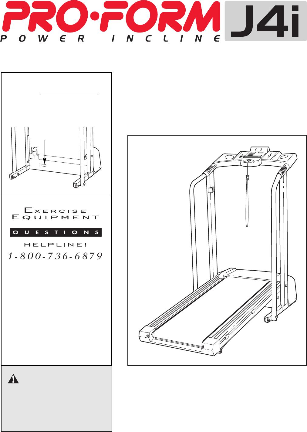 ProForm Treadmill 831 297212 User Guide | ManualsOnline com