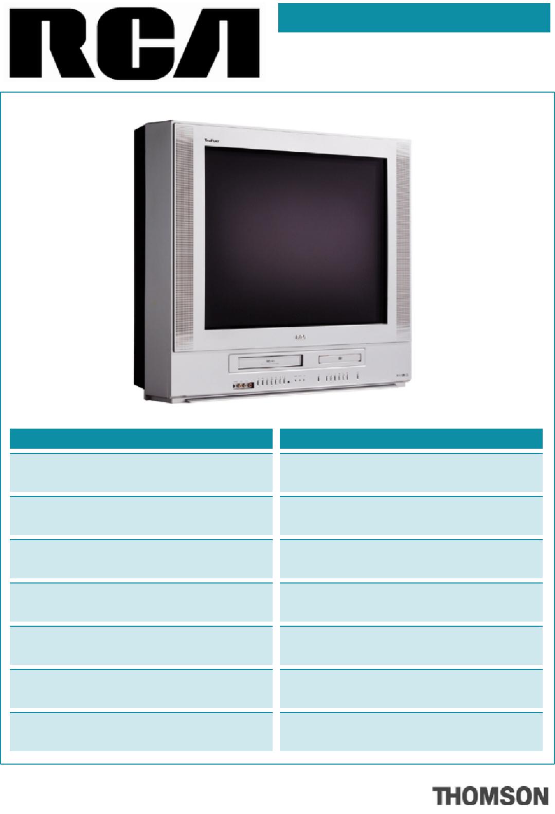 rca tv dvd combo 20f500tdv user guide. Black Bedroom Furniture Sets. Home Design Ideas