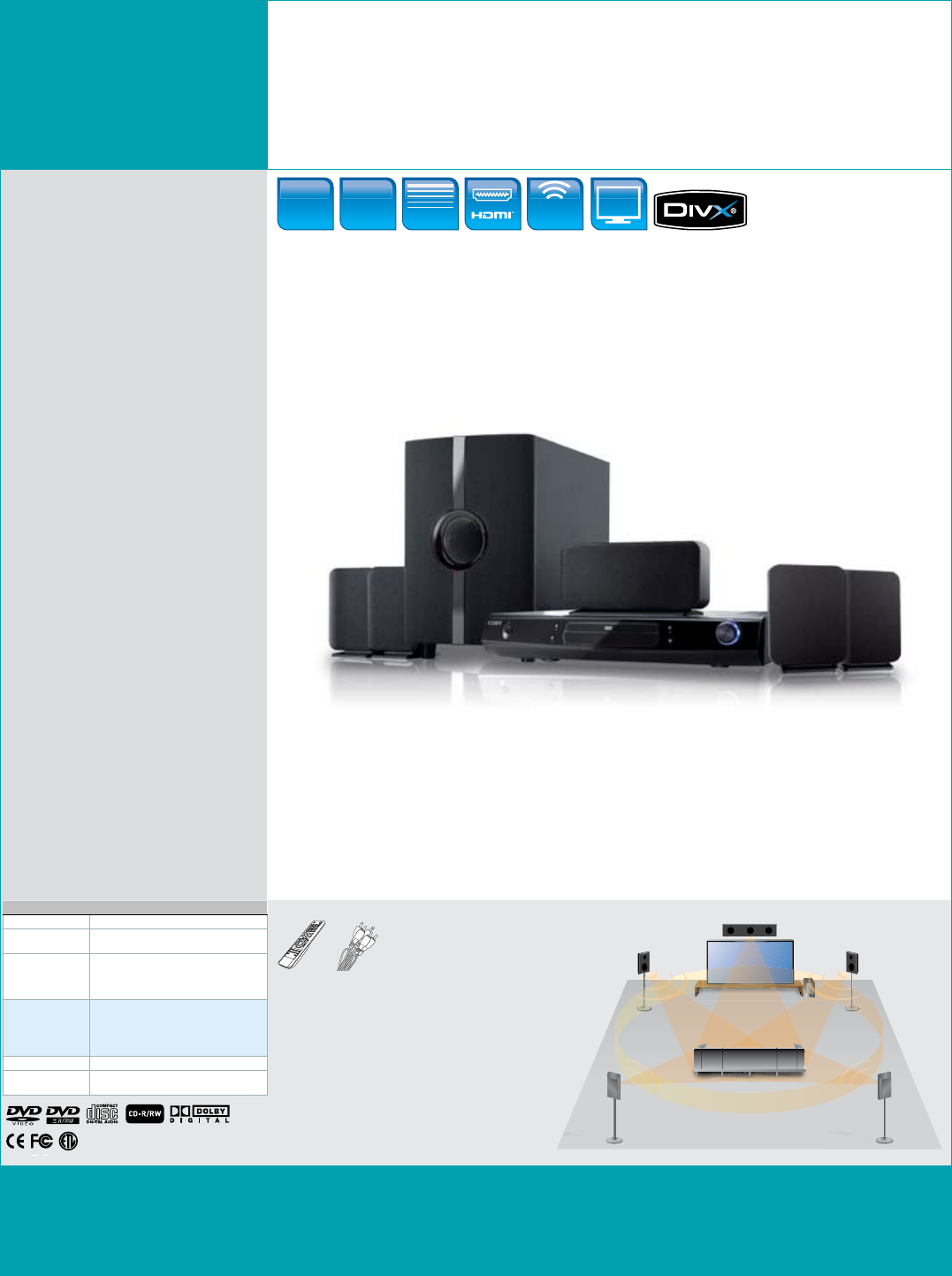COBY electronic DVD968 Home Theater System User Manual
