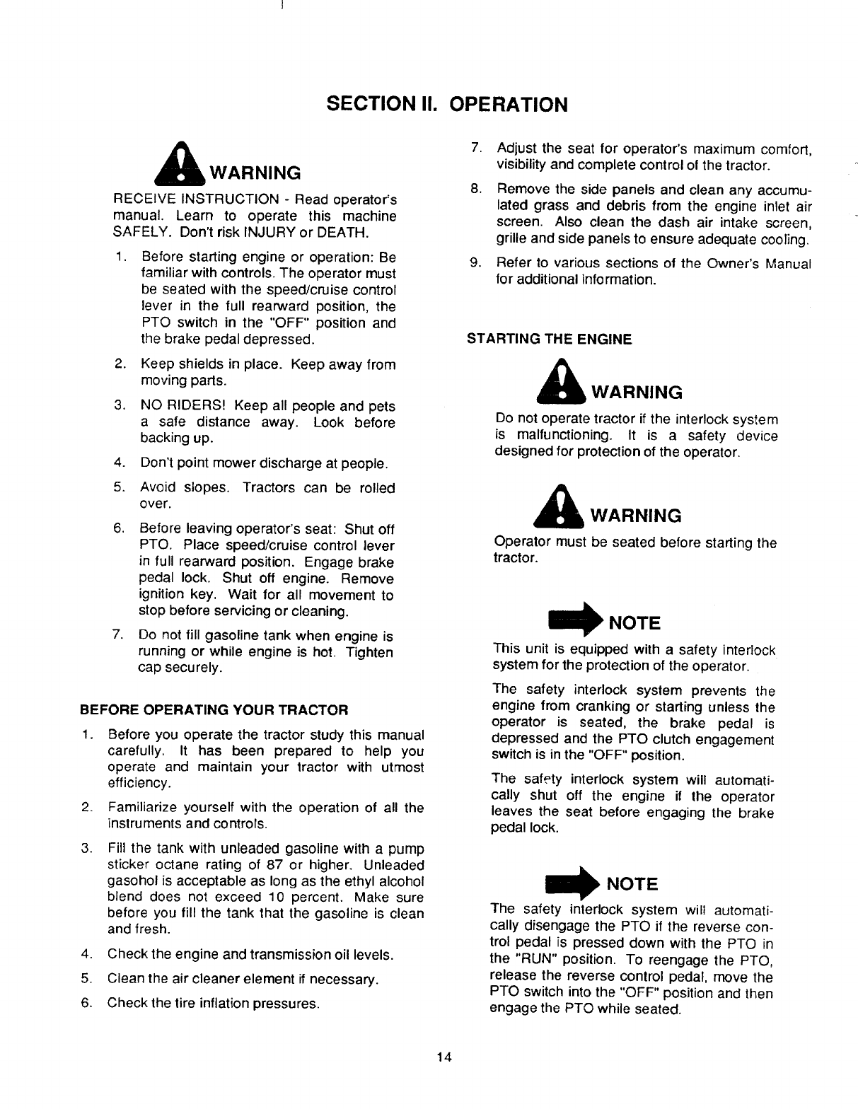 Page 14 of Cub Cadet Lawn Mower 2135 User Guide
