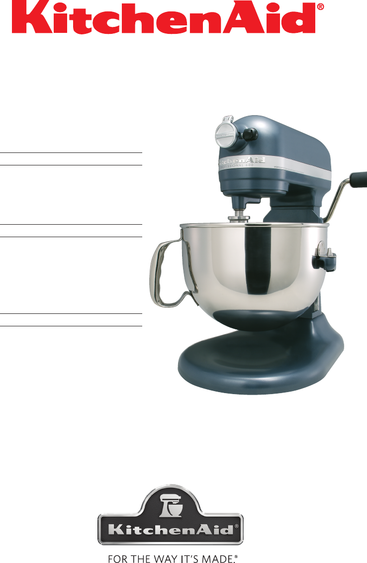 Kitchenaid Coffee Maker Operating Manual : KitchenAid Mixer 9709962C User Guide ManualsOnline.com