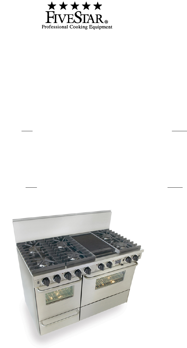 five star ranges range tn537 7bw user guide manualsonline com rh kitchen manualsonline com 5 Star Logo Five Star Stoves Parts