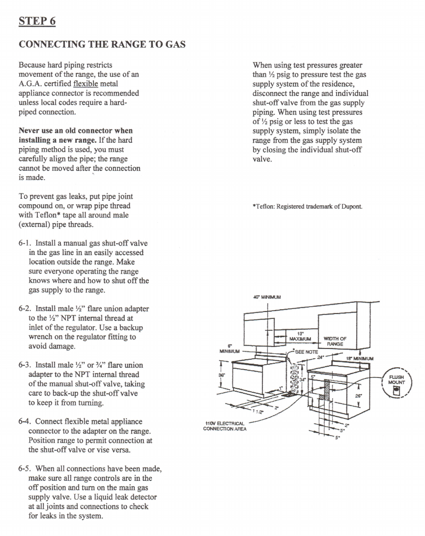 page 7 of five star ranges range tn537 7bw user guide rh kitchen manualsonline com Five Star Stoves Parts Five Star Service
