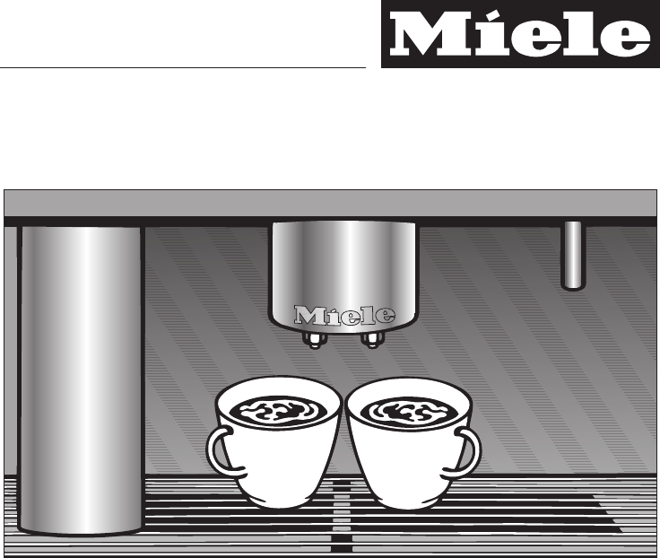 Miele Espresso Maker CVA 4066 User Guide ManualsOnline.com
