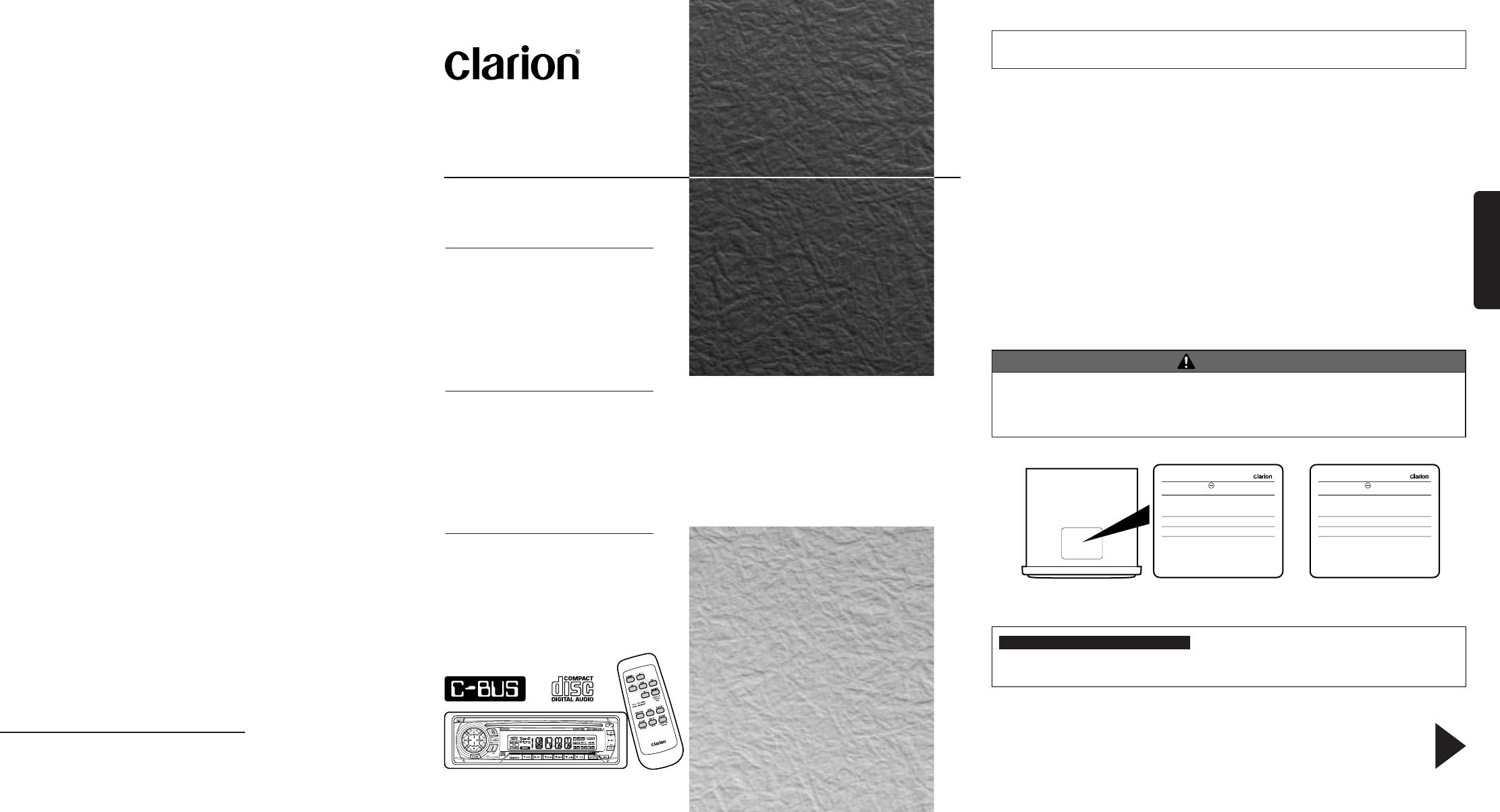 clarion car stereo system rdx555d user guide manualsonline com rh caraudio manualsonline com