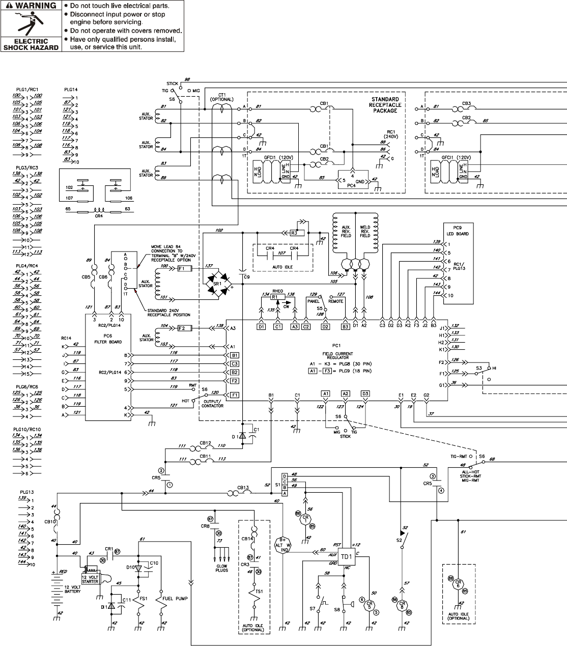 page 62 of miller electric welding system 400p, 500 x user guide Cooper Wiring Diagrams Welder page 62 of miller electric welding system 400p, 500 x user guide manualsonline com cooper wiring diagrams welder