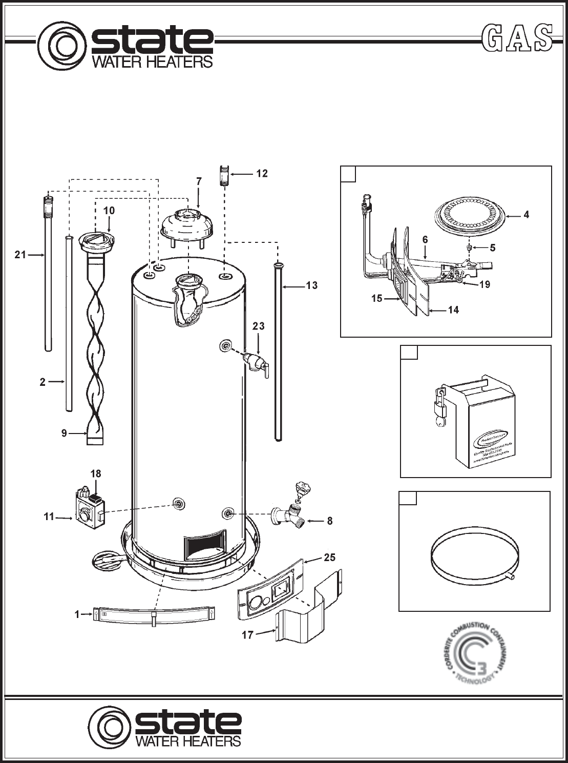 state industries gs650 water heater user manual