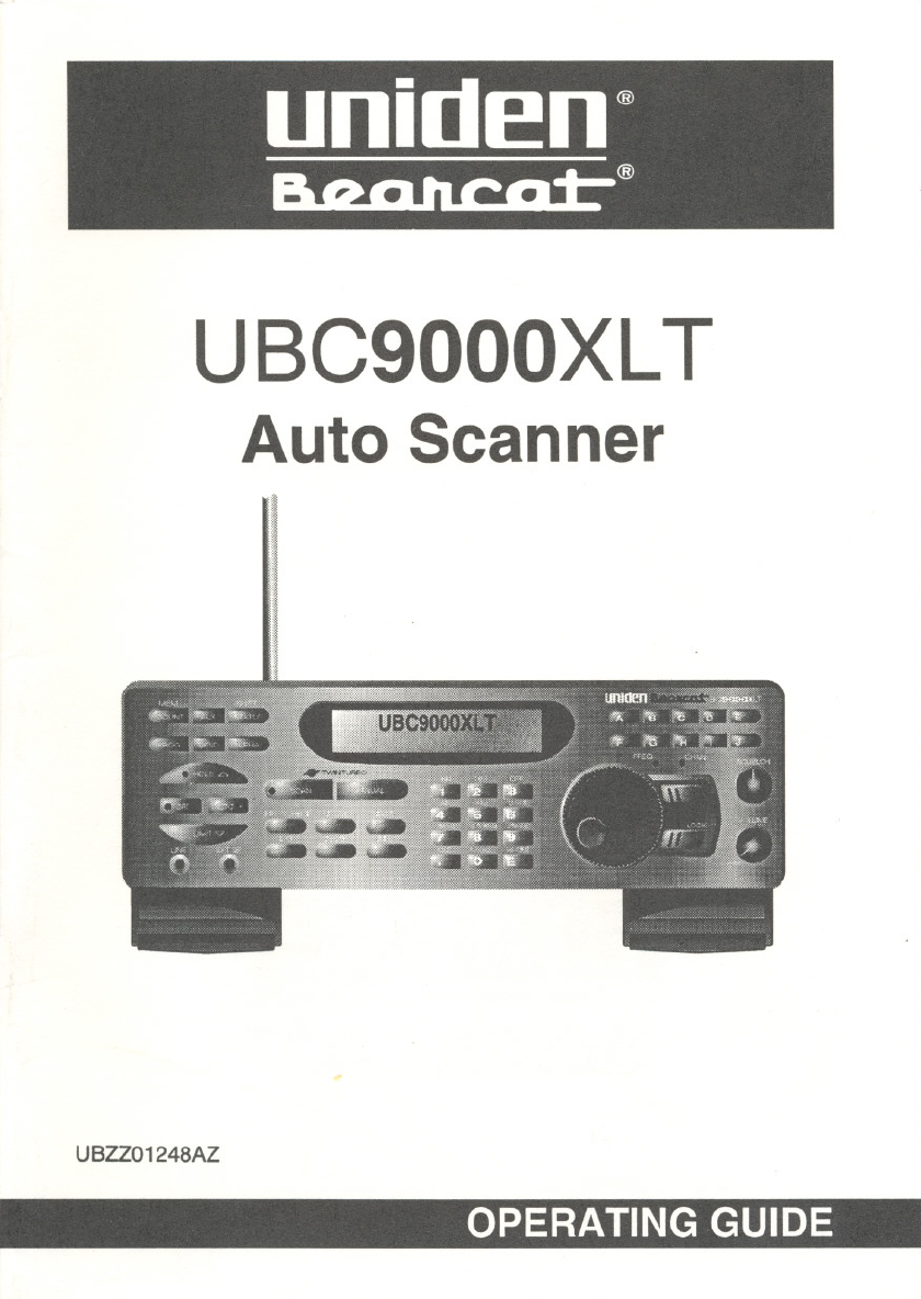uniden scanner ubc9000xlt user guide manualsonline com rh office manualsonline com uniden owners manual dect 6.0 uniden owners manual