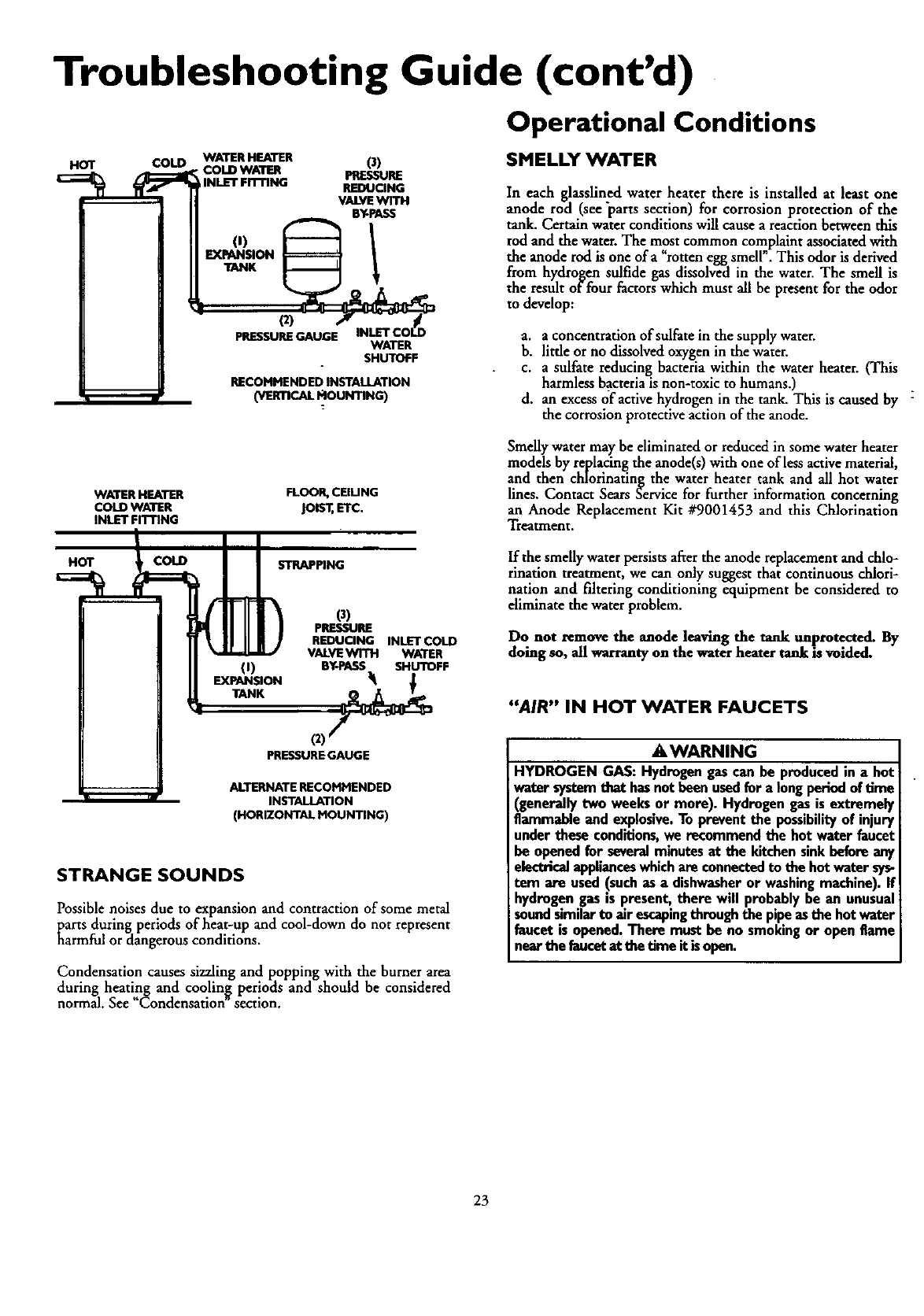 page 23 of kenmore water heater user guide. Black Bedroom Furniture Sets. Home Design Ideas