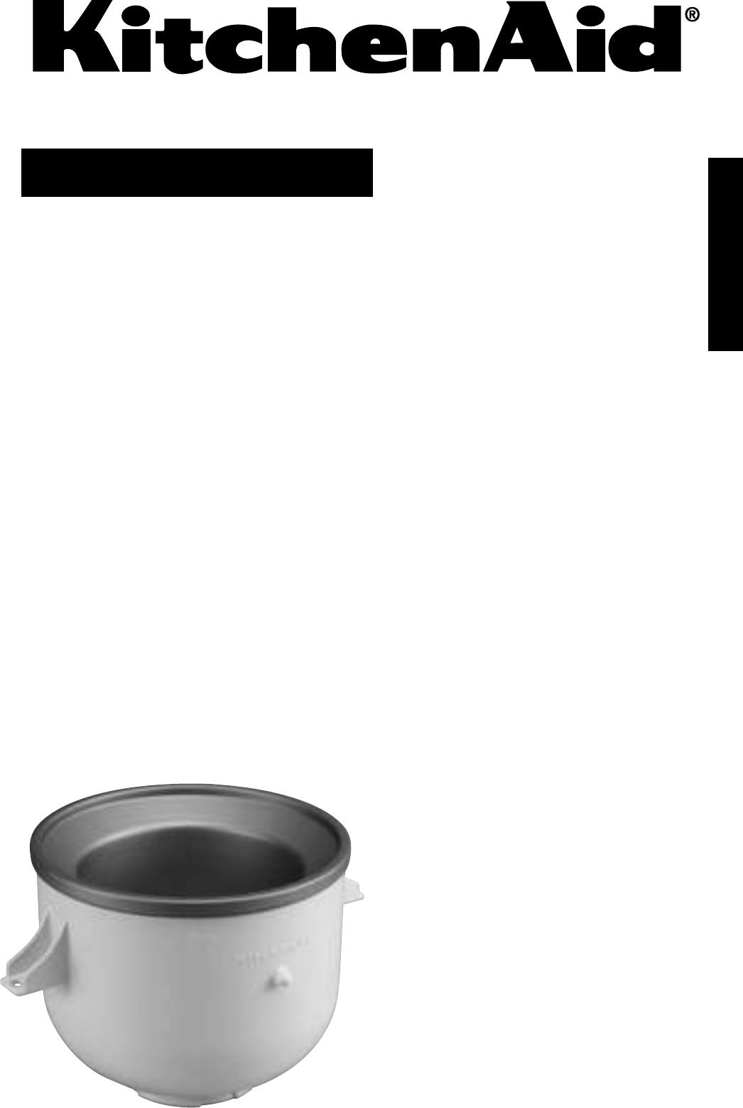 kitchenaid frozen dessert maker 5kica0wh user guide. Black Bedroom Furniture Sets. Home Design Ideas