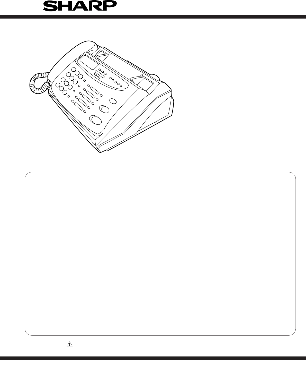 sharp fax machine ux
