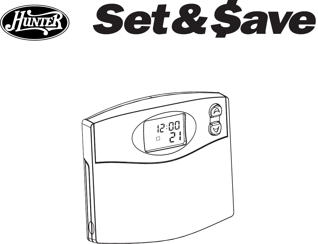 Hunter Programable Thermostat Wiring Diagram And Guide For Source Fan 47250a User Manual